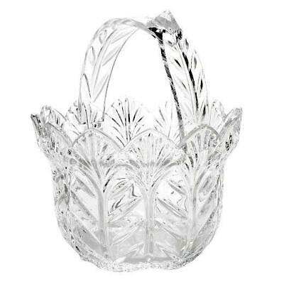 "Marquis by Waterford Malden 8"" Wedge Scalloped Crystal Basket (new in brown box)"