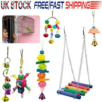 New! 6 Pack Beaks Metal Rope Small Parrot Budgie Cockatiel Cage Bird Toys Uk!
