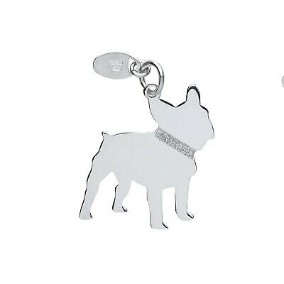"Silver French Bulldog Pendant Solid Silver 925 Stamp Pet Jewellery 14-30"" Chain"