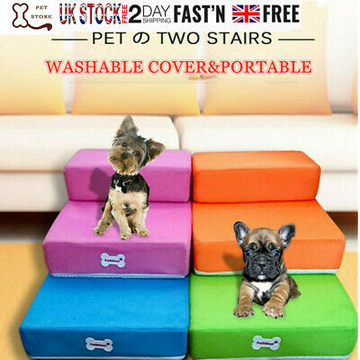 Breathable Folding Portable Dog Cat Pet Stairs Ramp Ladder Cover Sofa Bed Indoor