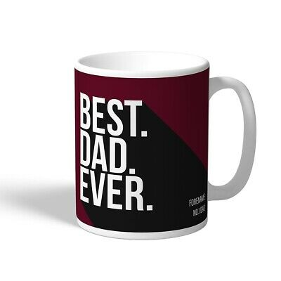 West Ham United F.C - Personalised Ceramic Mug (BEST DAD EVER)