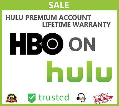 Hulu Premium No Ads + HBO Add-On Account | Lifetime Subscription | WARRANTY