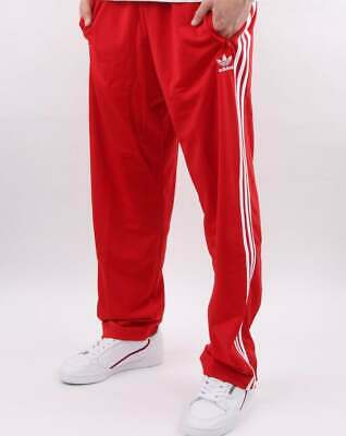 adidas Originals Firebird Track Pants in Scarlet Red  3 stripe tracksuit bottoms