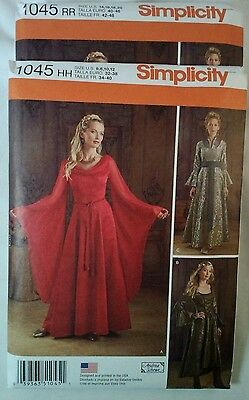 Renaissance & Headpiece  Dress Simplicity sewing pattern 1045 New Andrea Schewe