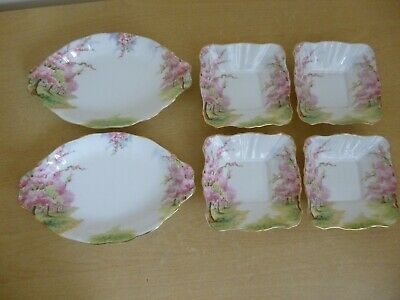 2 Royal Albert Blossom Time Gratin Dishes & 4 Side/Nibbles dishes