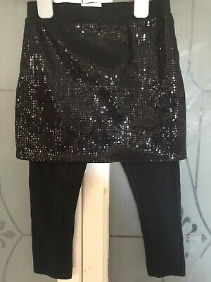 Next Girls Leggings With Sequin Skirt Attached-Age 4-5 Years Very Good Condtion