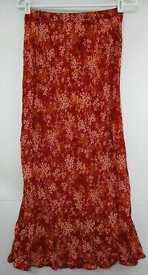 9b03fd4719 NEW FREE PEOPLE 2018 Way of the Wind Printed Maxi Skirt Sz Small Red ...