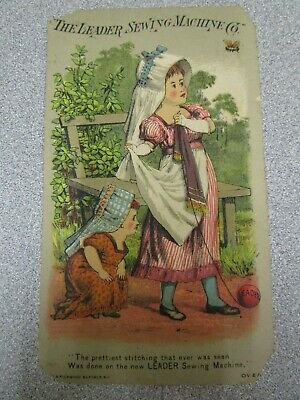 Victorian Trade Card - The Leader Sewing Machine - Mohrman, Syracuse, Nebraska