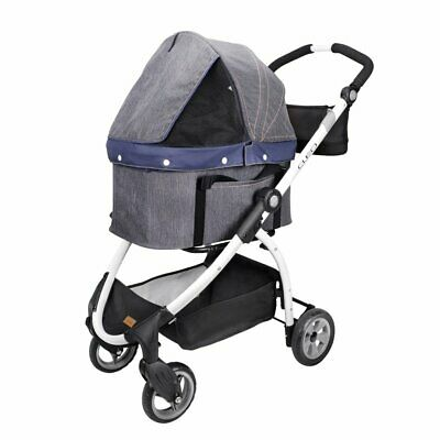 1129706-Ibiyaya Express Travel System Pet Stroller, Denim