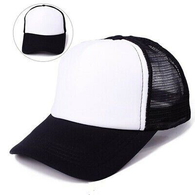 Solid Snapback Caps Mesh Blank Visor Child Baseball Hat Women Men Plain Sport