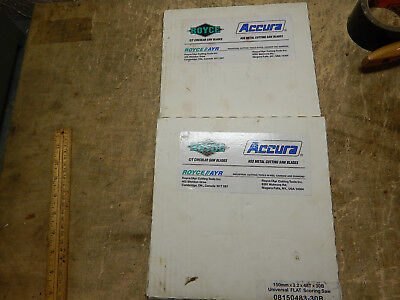 2, New Old Stock Royce Accra Table Saw Scoring Saw Blades Carbide Tipped