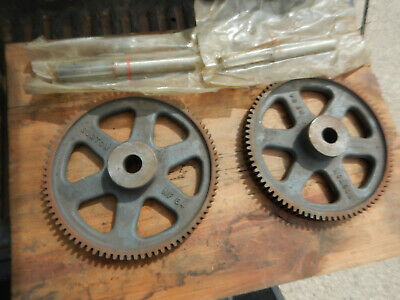 2 Boston Gear Nfr7 Stem Pinion And Nf84 Gear Machine Part Possible New Old Stock