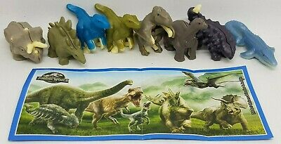 Kinder 2019, Jurassic World Italy, Calze Befane, compl. set with all Bpz