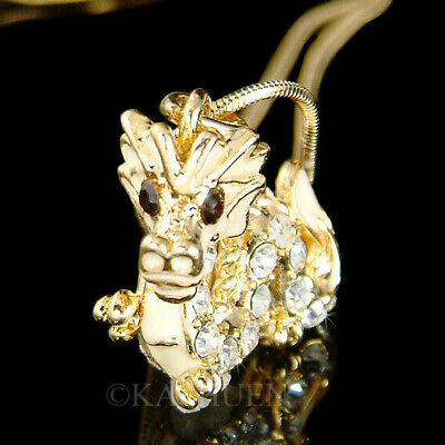 ~Legendary Dragon made with Swarovski Crystal Serpents Chinese New Year Necklace