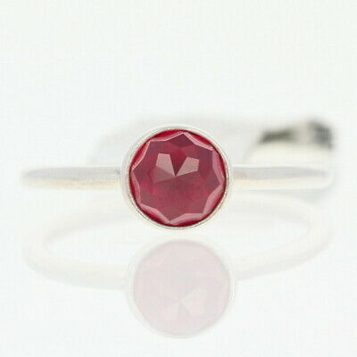 f11ce9021 NEW Authentic Pandora July Droplet Ring Sterling Red Solitaire 52 (6)  191012SRU