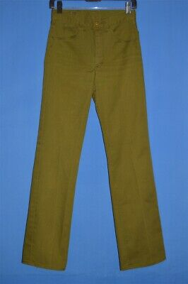 vintage 60s LEE RIDERS DARK GREEN COLOR TWILL MEN'S PANTS JEANS 27 X 32