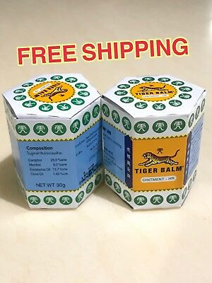 2x30g Thai Tiger. Balm White Headache Remedies Relieves Stuffy Nose insect bite