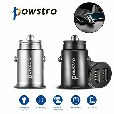 Ultra mini 4.8A Fast Charging Dual Ports USB Car Phone Fast Charger Adapter