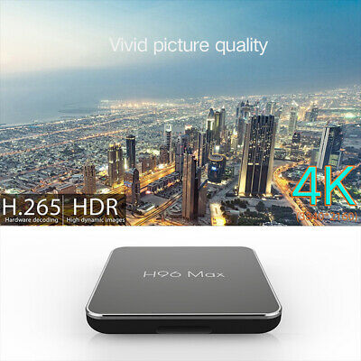 Smart TV Box 4+32G LAN Ethernet WiFi 4K H96 Quad Core Media Player Android8.1