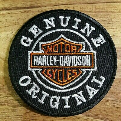 Harley Davidson Logo Genuine Original  Embroidered applique iron on Patch #37