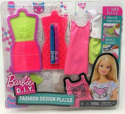 Barbie Fashion Design Plates Purple And Blue Make Your Own Outfit For Doll 12 99 Picclick Uk
