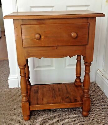 Attractive Solid Wood Hallway/Side Table Cupboard With Shelf And Drawer