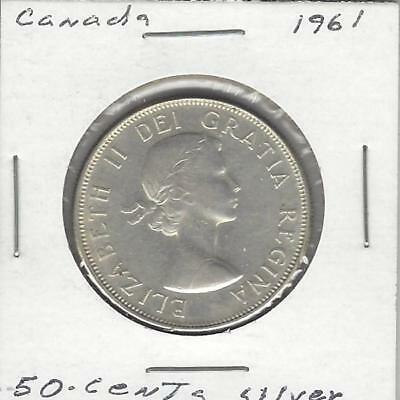 1961 50C Canada 50 Cents, Silver