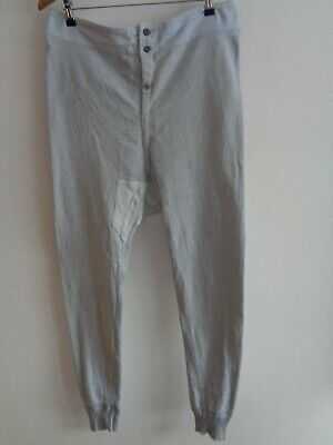 Vtg French 40s jersey trousers underwear hobo long johns sweatpants