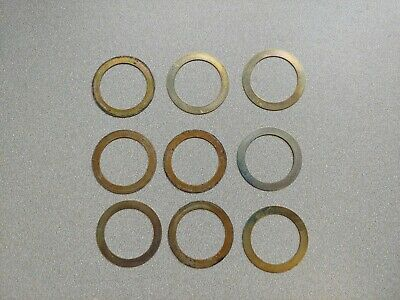 Very Nice Lot Of 9 Used Original Porsche 911 930 Alternator Pulley Shims