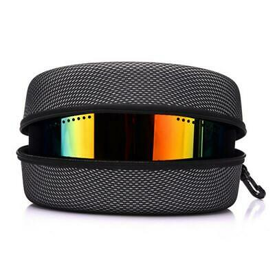 Ski Goggle Protective EVA Case Sunglasses Carry Zipper Buckle Hard Box Holder Au