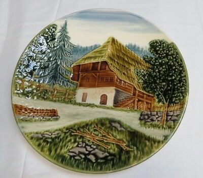 Cottage Highmount M.b.d 2555D Made In Germany Collector's Plate With Chips