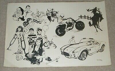 Vintage 1976 Ron Partridge Photograhic Litho Print Sports Car Motox Rodeo Ambucs