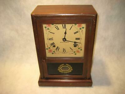 "Antique Seth Thomas Shelf / Mantel Clock ""The Salem"" ~ Time & Strike ~ AS IS"