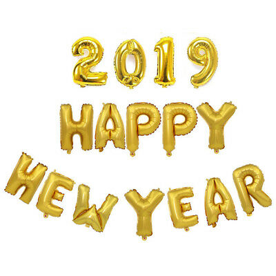 """/'2019/' In 40/"""" Gold Foil Number Balloons 2019 New Year 2019-GOLD+MI76"""
