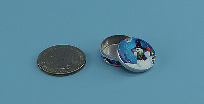 Dollhouse Miniature Christmas Candy Round Tin 1:12 in scale F51A Dollys Gallery