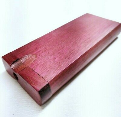 Purpleheart Dugout Stash Box + 2 Grinder One Hitters Metal One Hitter Cigarettes