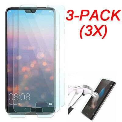 3X Tempered Glass Screen Protector For Huawei P10 P20 Pro Y6 Y7 Y9 2018 Honor 10
