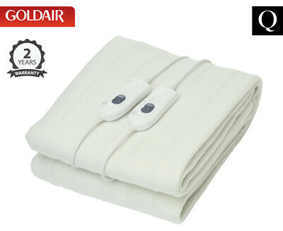 Goldair Select Queen Bed Tie Down Electric Blanket - White