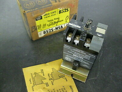ALLEN BRADLEY 852S-NSA Solid State Timing Relay 0.1 to 5 seconds Series G