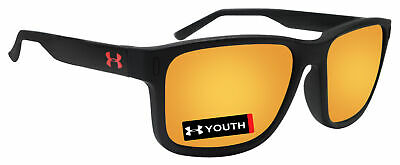 ab622749f319 Under Armour 8600102-018041 youth rookie satin black frame orange lens new