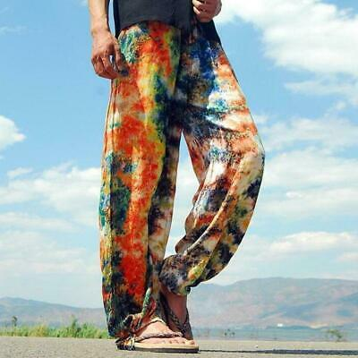 Unisex Harem jogger hippie pants summer Popping Colorful Trousers Casual Loose