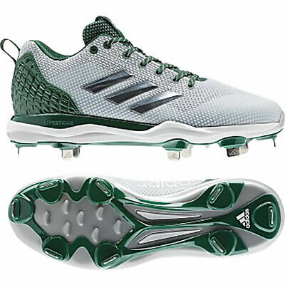 f3a972813260 Adidas Power Alley 5 Men's Baseball Cleats B39191 - White with Green (NEW)