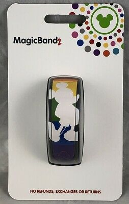Disney Parks Mickey Mouse Pride Rainbow Silhouette Magic Band 2 WDW - NEW