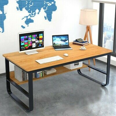 "47"" Computer Desk PC Laptop Wood Writing Desk Home Office Furniture Workstation"