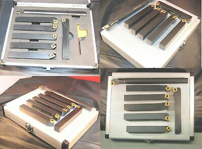 Set of 7 SCT Indexable Lathe Turning Tools 16 mm Shank From Chronos