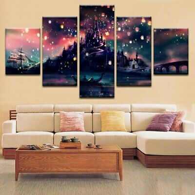 Harry Potter Hogwarts 5 Pieces/set HD Canvas Prints Painting Wall Art Home Decor