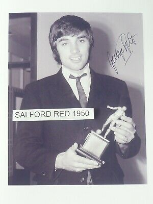 George Best Picture With The Footballer Of The Year 1968