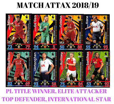 Match Attax 18/19 Title Winners Elite Attackers Top Defenders International Star