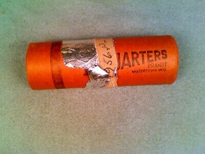 1956-P BU Bank Roll of 1956-P Silver Quarters Roll 40 Coins (001)