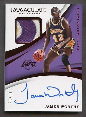 0ac5dc65029 LAKERS JAMES WORTHY 'HOF 03' Authentic Signed Jersey Autographed PSA ...